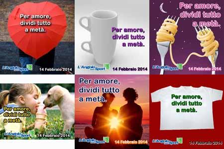 San-Valentino - per amore dividi tutto a metà - AngoloDelloSport - SocialWebMax