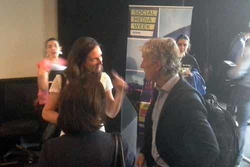 Laura Bononcini e Riccardo Luna alla #SMWRME - SocialWebMax