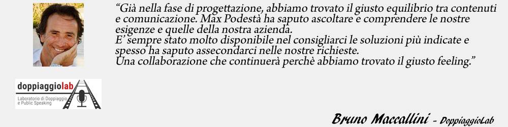 Bruno Maccallini - DoppiaggioLab endorsement - SocialWebMax