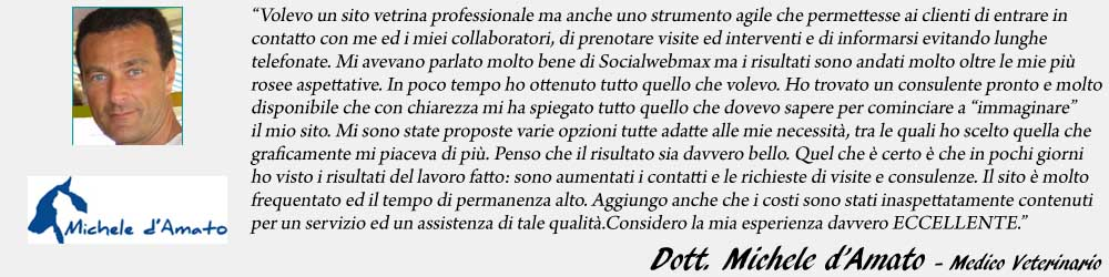 Michele d'Amato endorsement - SocialWebMax