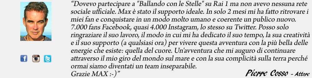 Pierre Cosso endorsement - SocialWebMax