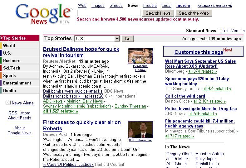 Facebook e la deriva autoritaria - Google News 2005 - SocialWebMax