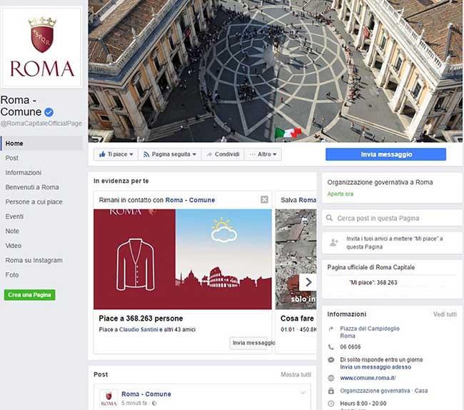 Facebook e la deriva autoritaria - Ricerca Comune di Roma - Facebook 01 - SocialWebMax