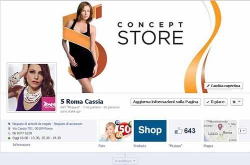 Fan Page Facebook di 5 Roma Cassia - SocialWebMax