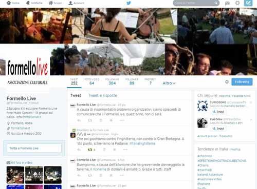 FormelloLive account Twitter - SocialWebMax