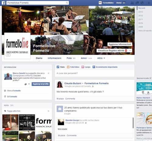 FormelloLive identità Facebook - SocialWebMax