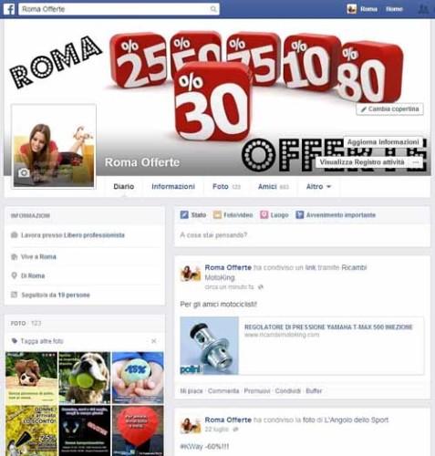 RomaOfferte-Facebook - SocialWebMax