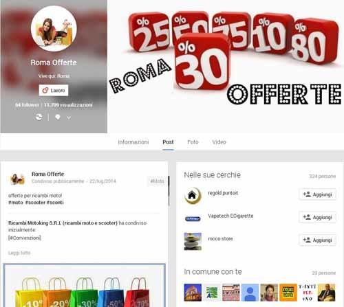 RomaOfferte-Google+ - SocialWebMax
