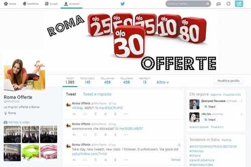 RomaOfferte-Twitter - SocialWebMax