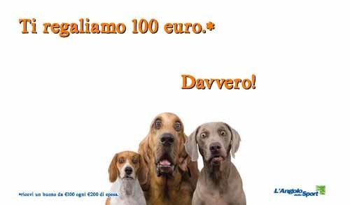 ti regaliamo 100 euro - AngoloDelloSport - SocialWebMax