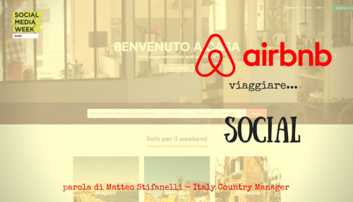 Airbnb - viaggiare Social #SMWRME - SocialWebMax