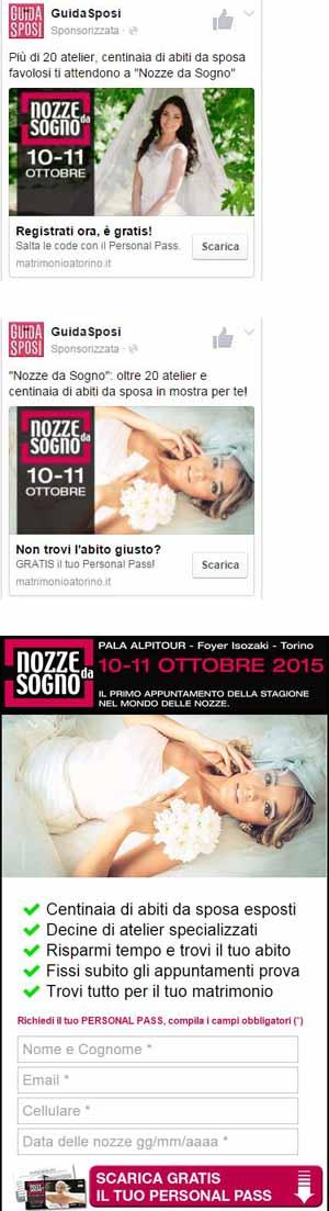 Annunci FB + lead page - Guida Sposi - SocialWebMax