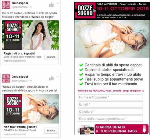 Annunci FB + lead page square - Guida Sposi - SocialWebMax