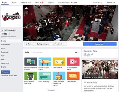 Le Officine del Pozzo Facebook - SocialWebMax
